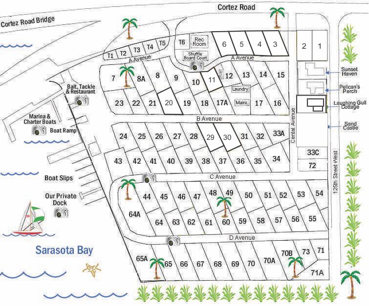 Site map of Cortez Park