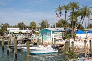 Waterfront boat slips